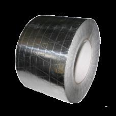 Скотч монтажный алюминиевый армированный для герметизации систем вентиляции 50 мм.