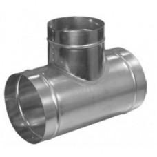 Тройник Т - образный, d125/100 из оцинкованной стали