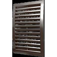 2525РРН кор, Решетка наружная ASA вентиляционная вытяжная 250х250, коричневая