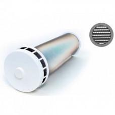 КИВ 125 0,5м с алюминиевой решеткой и антимоскитной сеткой. Клапан Инфильтрации Воздуха