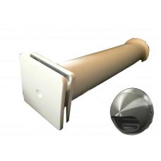 КИВ К1 100 0,5м с выходом стенным из нержавеющей стали. Клапан Инфильтрации Воздуха