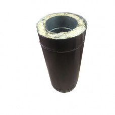 Труба сэндвич 0.5 метр 150х210 оцинкованная сталь-оцинкованная сталь коричневая