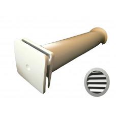 КИВ К1 100 0,5м с алюминиевой решеткой и антимоскитной сеткой. Клапан Инфильтрации Воздуха