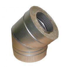 Отвод 150x210 сэндвич 45* оцинкованная сталь - оцинкованная сталь