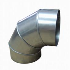 Отвод 90, d 150 из оцинкованной стали