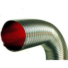 Газоход гофрированный d 120мм (1.5м) из нержавеющей стали