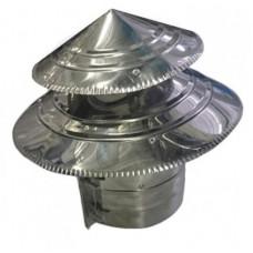 Зонт ф115-2  двухъярусный из нержавеющей стали 0,5мм