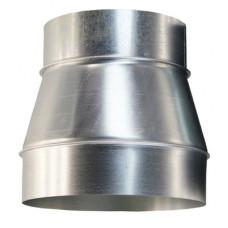 Переход 140/120 н1 из нержавеющей стали 1 мм сварной шов