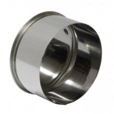 Заглушка ф110  из нержавеющей стали 0,5мм