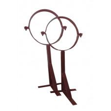 Кронштейн телескопический с хомутом 210 коричневый