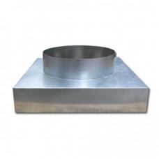 Адаптер 305х305ф160 из оцинкованной стали верхняя врезка