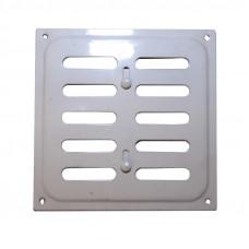 Решетка металлическая Колор регулируемая 160х160 белый