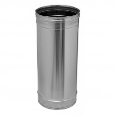 Дымоход ф 150 0,5м н1 из нержавеющей стали AISI 430/1мм