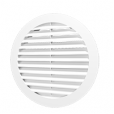 15РКН, Решетка наружная вентиляционная круглая D200 с фланцем D150, ASA