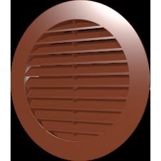 15РКН терр, Решетка наружная вентиляционная круглая D200 с фланцем D150, ASA, терракотовая