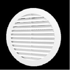 16РКН, Решетка наружная вентиляционная круглая D200 с фланцем D160, ASA