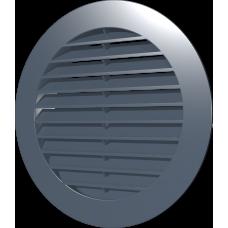 16РКН сер, Решетка наружная вентиляционная круглая D200 с фланцем D160, ASA, серая