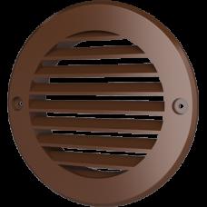 10РКН терр, Решетка наружная вентиляционная круглая D130 с фланцем D100, ASA, терракотовая