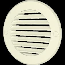 10РКН Ivory, Решетка наружная вентиляционная круглая D130 с фланцем D100, ASA