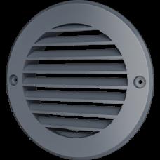 12РКН сер, Решетка наружная вентиляционная круглая D161 с фланцем D125, ASA, серая