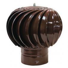 Турбодефлектор крышный ТД-110мм оцинкованный коричневый (RAL 8017)