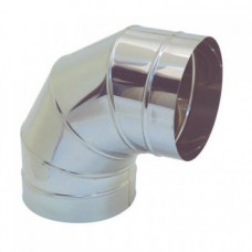 Отвод 90 ф125  (угол) из нержавеющей стали 0,5мм