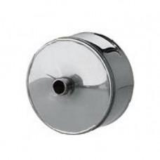 Заглушка d100 с конденсатоотводом из нержавеющей стали 0.5 мм