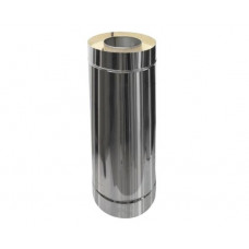 Сэндвич труба  110/200 L- 500 н1/н нержавейка 1мм + нержавейка глянец