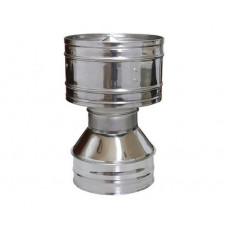 Дефлектор 200/280 нержавеющая сталь глянец