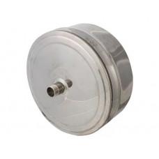 Заглушка d100 с конденсатоотводом из нержавеющей стали 1 мм