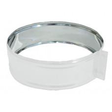 ХСН ф110 белый хомут стяжной из нержавеющей стали глянец