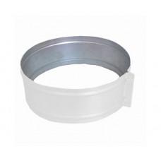 ХСО 160 белый хомут стяжной из оцинкованной стали