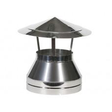 Зонт-оголовок 100/200 нержавеющая сталь глянец