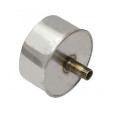 Заглушка d160 с конденсатоотводом из нержавеющей стали 0,5 мм