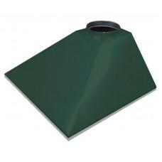 ЗВОК  500х 700х400 h купольный без шины зеленый зонт вытяжной из оцинкованной стали