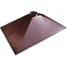 ЗВОК  500х1000х400 h купольный коричневый зонт вытяжной из оцинкованной стали на шинорейке