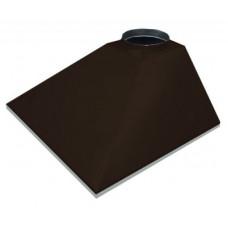 ЗВОК 500х 600х400 h купольный без шины коричневый зонт вытяжной из оцинкованной стали