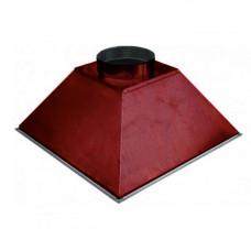 ЗВОК 700х 700х400 h купольный красный зонт вытяжной из оцинкованной стали на шинорейке