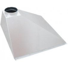 ЗВОП  600х1000х400h пристенный белый зонт вытяжной из оцинкованной стали на шинорейке