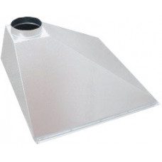 ЗВОП 600х 900х400h пристенный белый зонт вытяжной из оцинкованной стали на шинорейке
