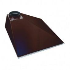 ЗВОП 600х 900х400h пристенный коричневый зонт вытяжной из оцинкованной стали на шинорейке