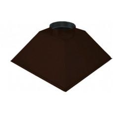 ЗВОК  600х 800х400 h коричневый купольный зонт вытяжной из оцинкованной стали на шинорейке