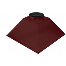 ЗВОК  600х 800х400 h красный купольный зонт вытяжной из оцинкованной стали на шинорейке