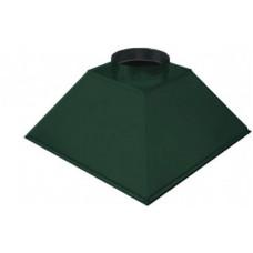 ЗВОК  600х 800х400 h купольный зеленый зонт вытяжной из оцинкованной стали на шинорейке
