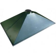 ЗВОК  600х 900х400 h зеленый зонт вытяжной из оцинкованной стали на шинорейке