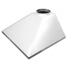 ЗВОК  500х 700х400 h купольный без шины белый зонт вытяжной из оцинкованной стали