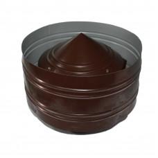 Дефлектор двухконтурный оцинковка 150х210  коричневая