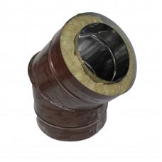Отвод 45 150х210 сэндвич 0,5мм/0,5мм из оцинкованной стали коричневый