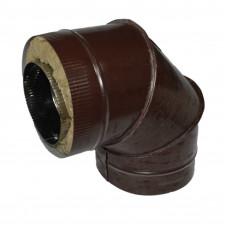 Отвод 90 150х210 сэндвич 0,5мм/0,5мм из оцинкованной стали коричневый