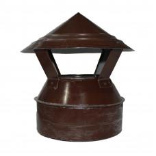 Зонт-оголовок сэндвич 150/210 из оцинкованной стали коричневый